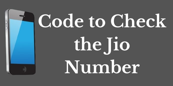Jio Number Check Code www.ussdcode.in