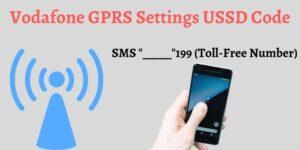 Vodafone Internet Settings USSD Code