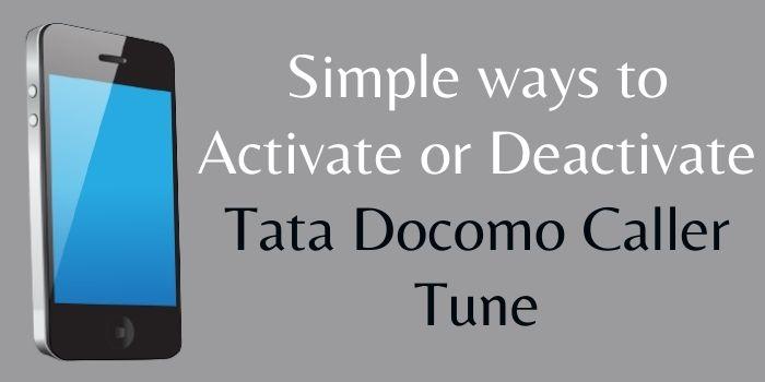 Activate Tata Docomo Caller Tune www.ussdcode.in