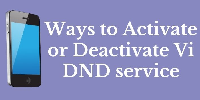 Activate_Deactivate DND service in Vi www.ussdcode.in