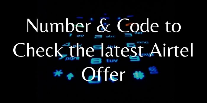Airtel Offer Check Code