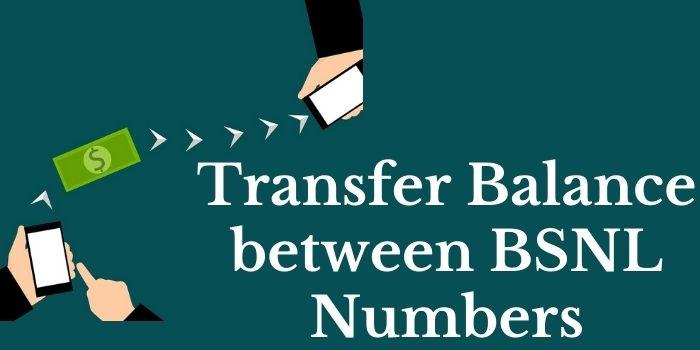 BSNL Balance Transfer USSD code www.ussdcode.in