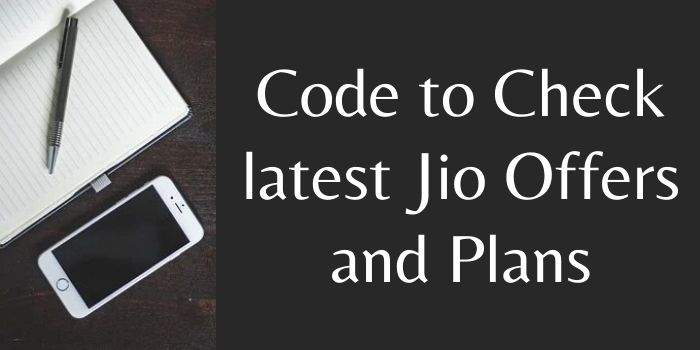 Jio Offer Check Code number