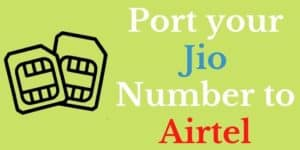 Jio to Airtel Port Offer www.ussdcode.in