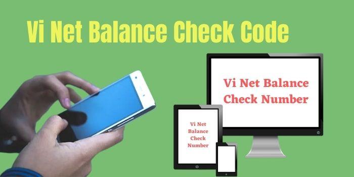 Vi Net Balance Check Code 2021