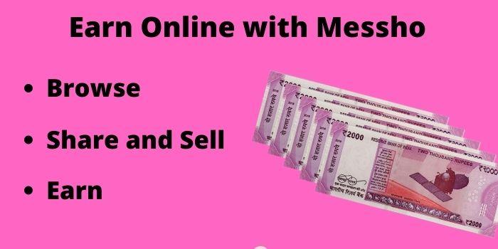 Earn online money with Meesho