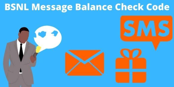 BSNL Message Balance Check Code