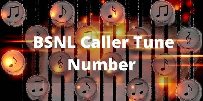 BSNL Caller Tune Number