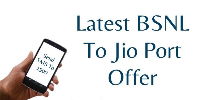 BSNL to Jio port offer