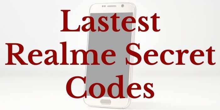 Realme Secret codes