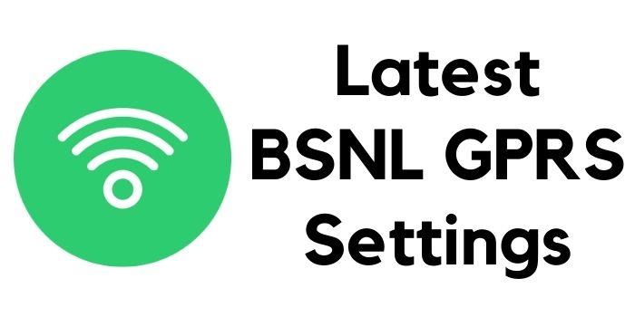BSNL GPRS Settings USSD Code
